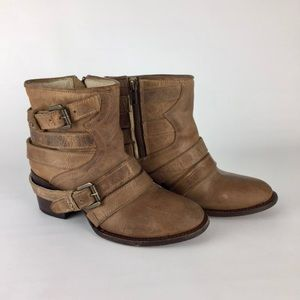 Freebird by Steven Estes Distressed Ankle Boot 7